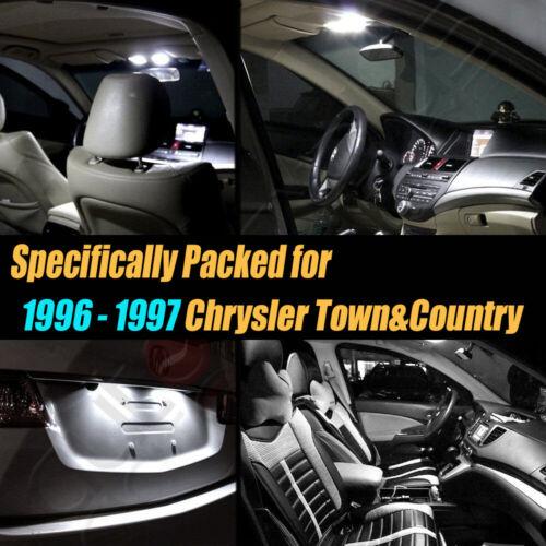 12Pc Super White Car Interior LED Light Bulb Kit for 96-97 Chrysler Town/&Country