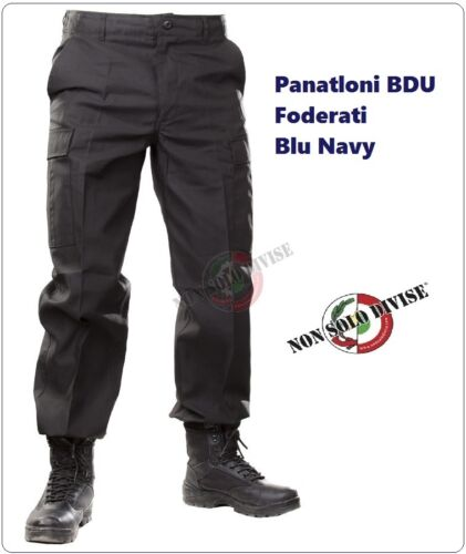 PANTALONI BLU NEVY M65 STYLE BDU MILITARY ARMY COMBAT CARGO TROUSERS PANTS