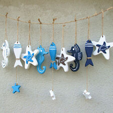 Mediterranean Style Wooden Fish Star Dolphin Hanging Nautical Decor Boat Ship Be