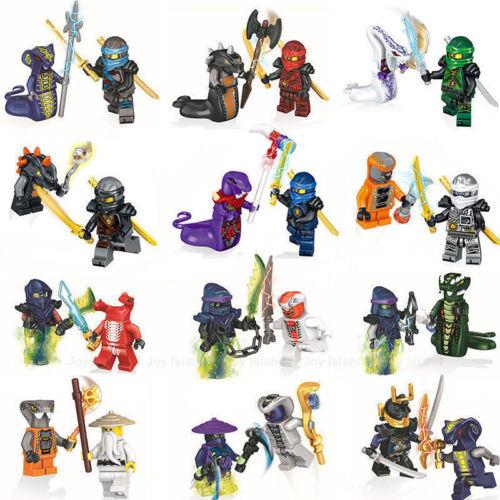 Mini Figuren Ninjago Kai Jay Sensei Wu Master Bausteine Spielzeug Set 24 De