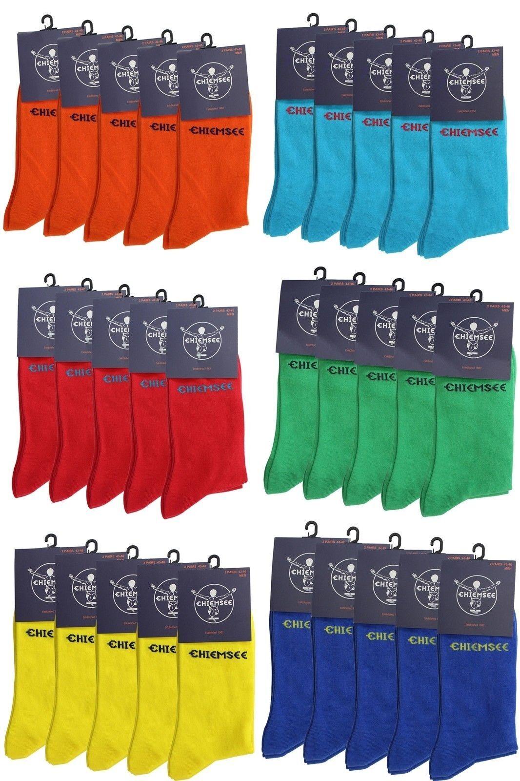 Socken Strümpfe 12 Paar Damen Herren Business viele Farben Chiemsee Größe 39-42