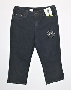 NOW-Brand-Dark-Blue-Mid-Rise-Crop-Leg-Denim-Jeans-Size-14-BNWT-TH12
