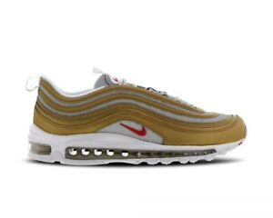 new product d73c4 3776a Details about Original Nike Air Max 97 SSL Trainers Gold Silver Red BV0306  700