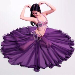 Performance-Long-Skirt-Swing-Dress-Belly-Dance-Costume-Skirts-360-Full-Circle