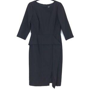 Vince Camuto size 10 dress black draped midi 3/4 sleeve NWOT