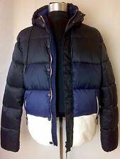 NWT AJ Armani Jeans Light Weight Puffer Jacket Blue/White EU 54 USA sz XL