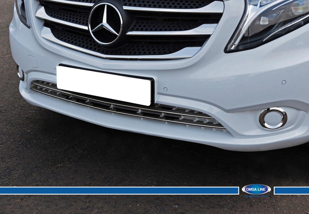 FIT Mercedes VITO// METRIS W447 Chrome Door Handle Cover 3 Door S Steel 2014/>UP