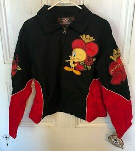 Vintage-Looney-Tunes-JH-Design-Tweety-034-Queen-Of-Hearts-034-Jacket-Womens-XL-NEW