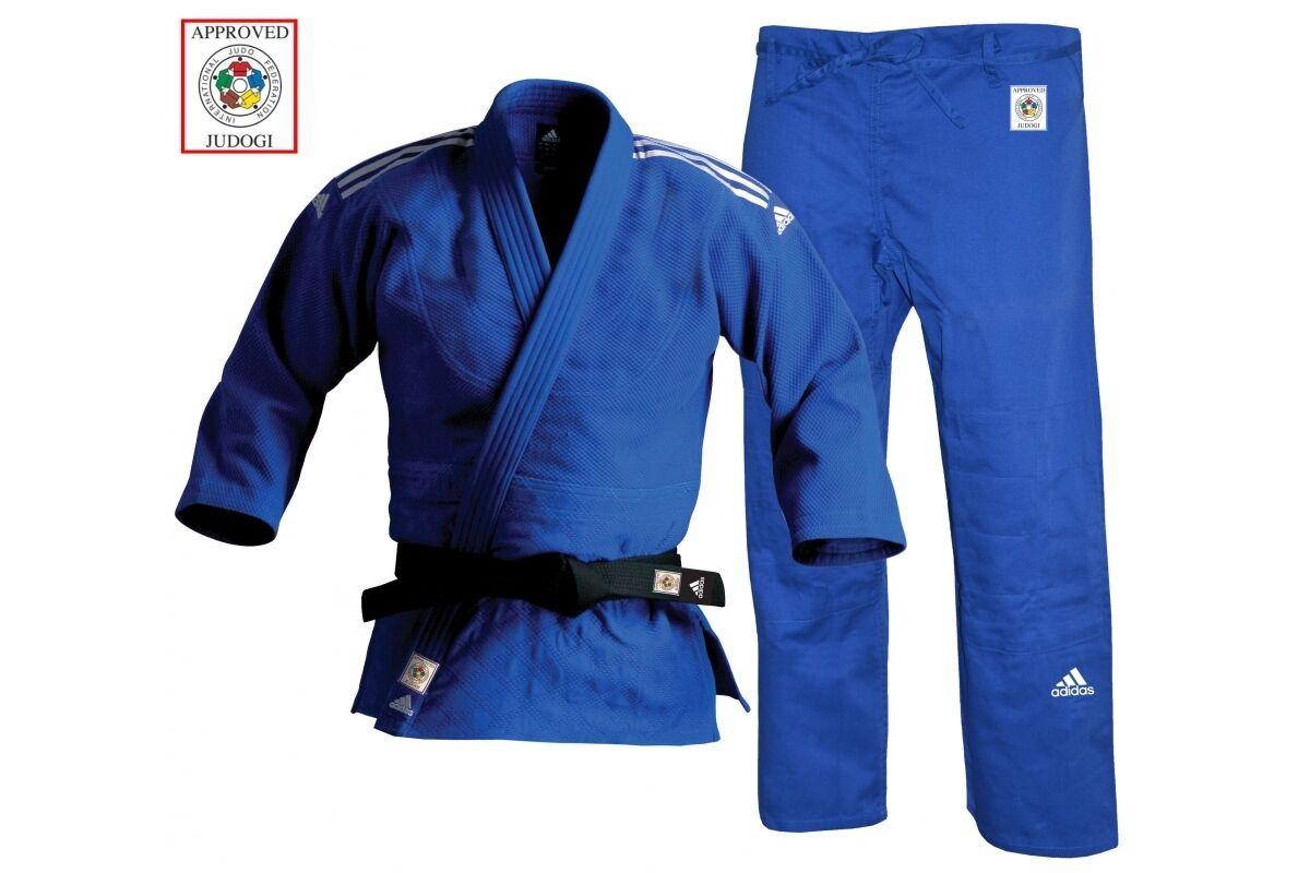 Uniforme Coupe 750g Judo Gi Ii Adidas Slim Champion Bleu nRBaTwX