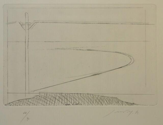 PIERO GUCCIONE acquaforte del 1972  ''SENZA TITOLO'' (ns rif 27/1)