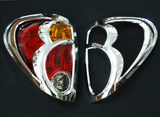 MITSUBISHI L200 TRITON 05-14 ANIMAL WARRIOR CHROME TAIL LIGHTS REAR LAMP COVER