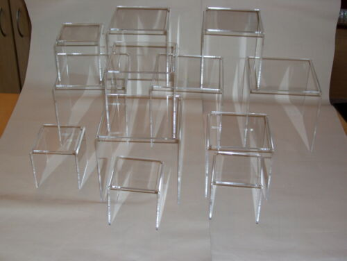 2 x multi pack of 12 clear acrylic perspex display plinths 543 inch