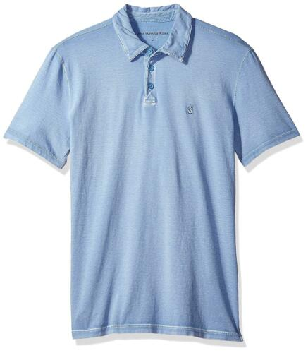 NWT $88 John Varvatos Men/'s Short Sleeve Peace Sign Blue Ocean  Polo  L Large