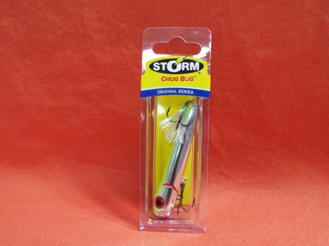 STORM Rattlin Chug Bug Cb08 Lures Metallic Silver Chart Back 037