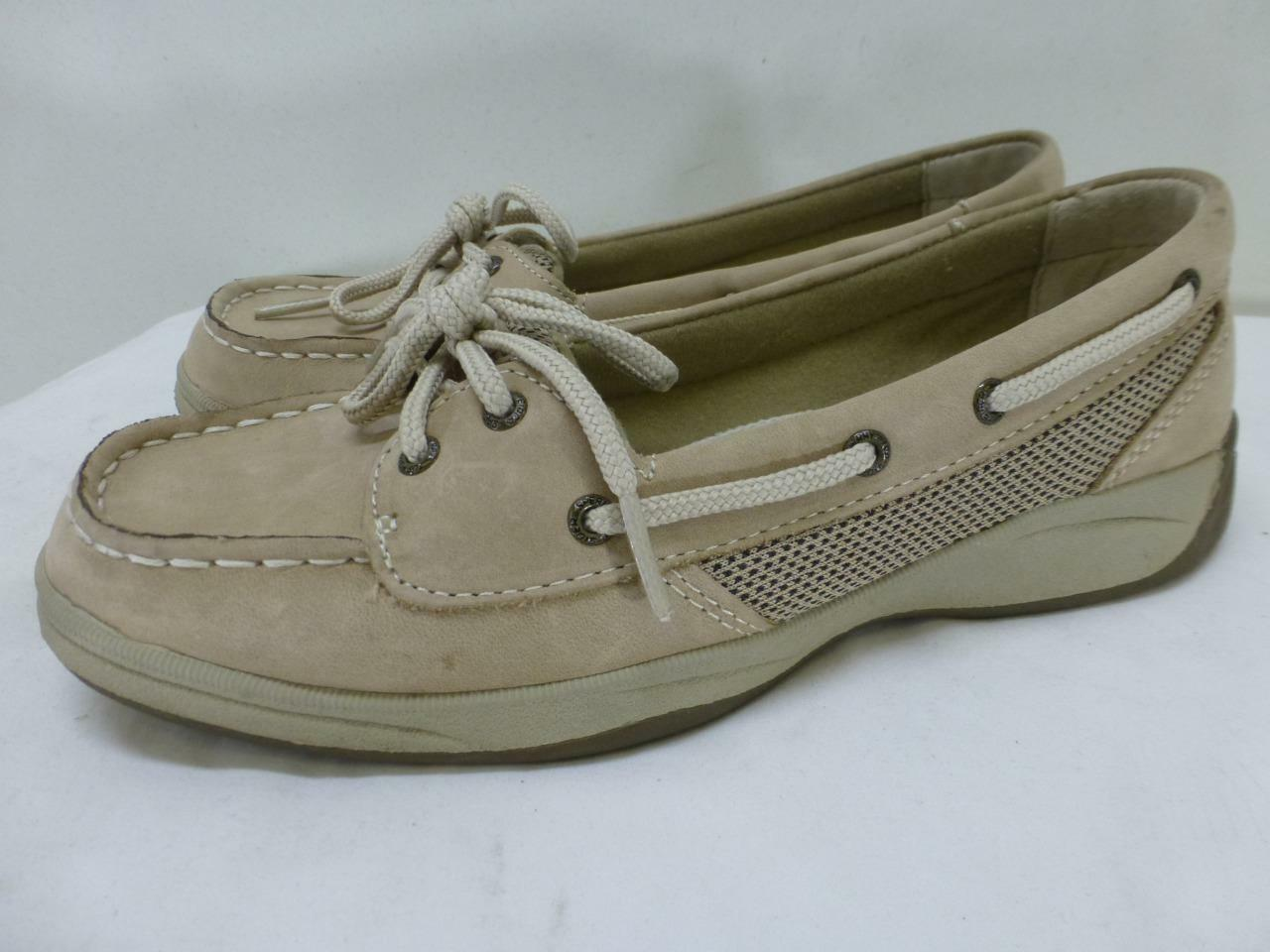 130 Sperry Top Sider Laguna suede lthr boat shoes deck shoes womens sz 4.5 M 37