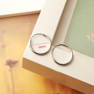 Womens-Fashion-Jewelry-925-sterling-silver-Round-Hoop-Dangle-Earrings-Studs-x