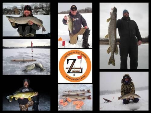 SINGLE HOOK RIG FLUOROCARBON ICE FISHING TIP UP LEADER Z LEADERS #450 6