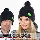 adidas Performance Knit Hat Wool Crochet Beanie Bobble Women Men Fleece Linned