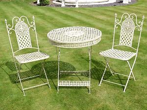Image Is Loading Antique White French Style 3 Piece Bistro