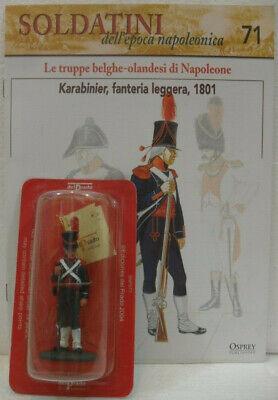"""Dinamico Soldatini Napoleonici In Piombo """"karabinier, Fanteria Leggera 1801"""" Mm. 54 C/fas Una Grande Varietà Di Modelli"""