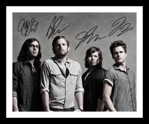 KINGS OF LEON AUTOGRAPHED SIGNED /& FRAMED PP POSTER PHOTO