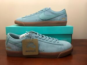 check out 9160b f5bce Image is loading Nike-X-Supreme-Blazer-Low-GT-QS-Cannon-