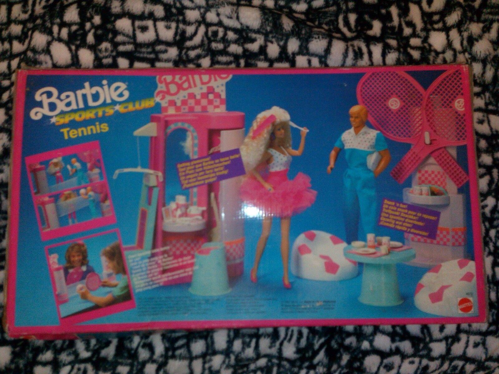 Barbie Sports Club de Tenis Mattel 1989 Hecho en Italia
