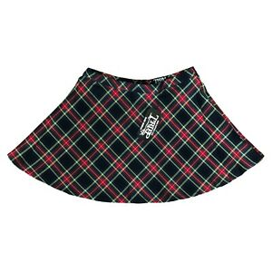 Tripp-NYC-80-90s-Gothic-Goth-Punk-School-Girl-Black-Red-Plaid-Mini-Skirt-Size-XL