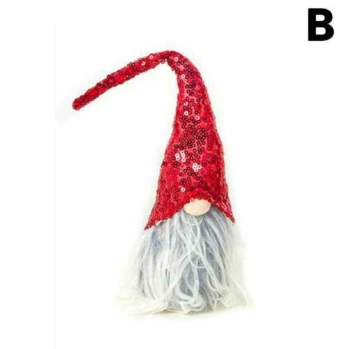 Merry Christmas Sequin Swedish Santa Gnome Plush Doll 2019hot Toy Ornament W4N7