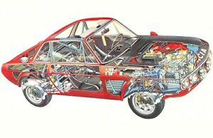 A3 Lancia Delta S4 Rally Cutaway Drawing Wall Poster Art Picture Print