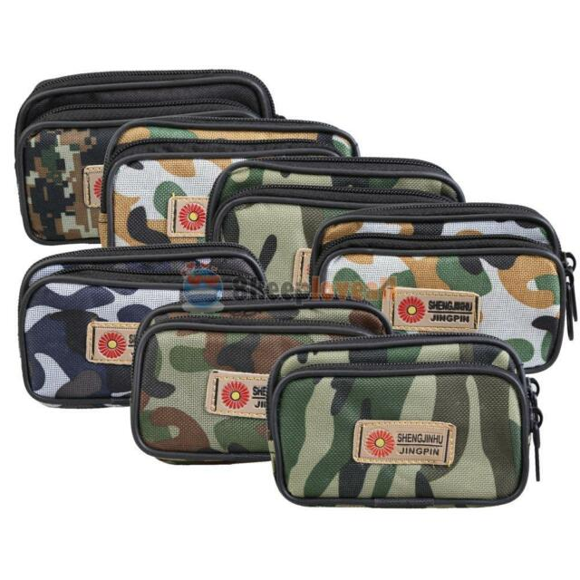 Camo Fanny Pack Travel Waist Bag Cell Phone Holder Riding Hiking Canvas Mens New