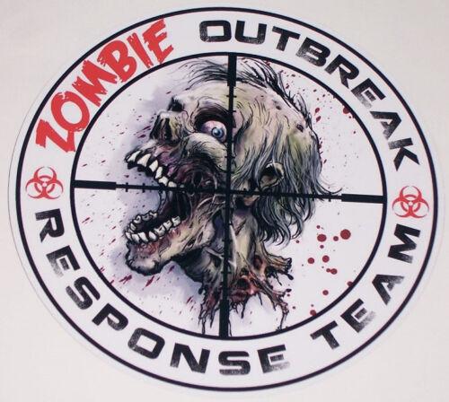 "8/"" X 8/"" Zombie Outbreak Response Team #1 Vinyl Decal Sticker Skull Black Ops"