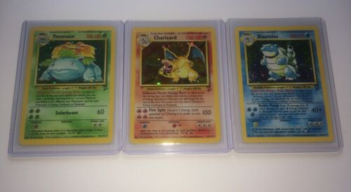 Base Set 2 Rare Holos Charizard Venusaur Blastoise Pokémon Card Lot