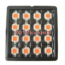 10pcs 10w 10 Watt Full Spectrum Led Chip 380nm840nm Plant Grow Lights For Diy