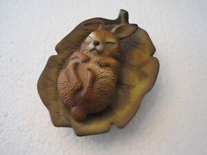 Vintage House of Global Art Sleeping Raccoon on Leaf