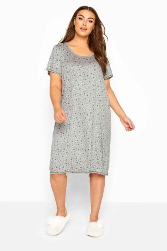 Yours Clothing Women/'s Plus Taille Imprimé étoile Chemise de nuit