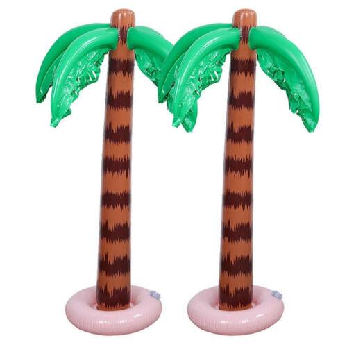 1 x Inflatable Hawaiian Tropical Palm Tree Toy Beach Pool Party Decor 90x27.5cm