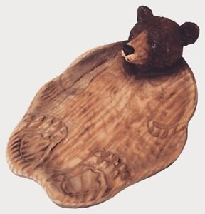 Brown-Bear-Hand-Wood-Carving-Candy-Dish