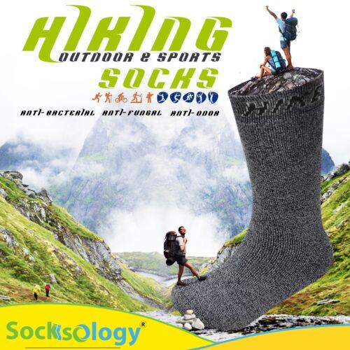 Mens Hiking Outdoor Work Socks Sports Walking Anti Blister Sole 7-11 Socksology®