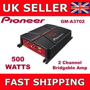 Pioneer-2-Channel-Amplifier-Two-Channel-Bridgeable-Car-Amp-500-Watts-GM-A3702