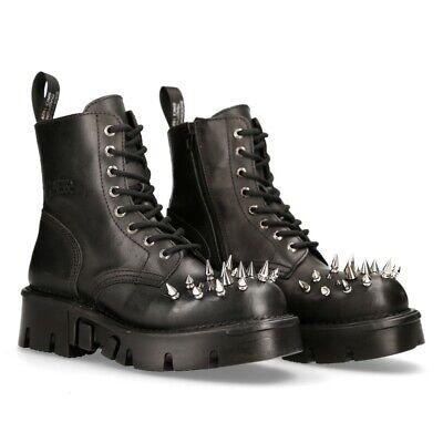 Verantwortlich New Rock Schuhe Shoes Boots Stiefel M.mili084cono-c1 Gothic Schwarz äRger LöSchen Und Durst LöSchen