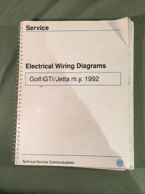 Volkswagen Wiring Diagrams 1992 Golf Gl  Gti