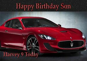 Personalised Maserati Sports Car Large Size Son Grandson