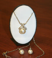 Cocktail Jewelry, Wedding Accessories, Necklace And Earrings Set W/pearls, Gift