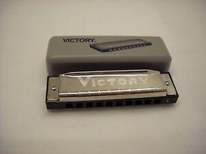 Vintage VICTORY Harmonica in the Original Box, 10 Holes