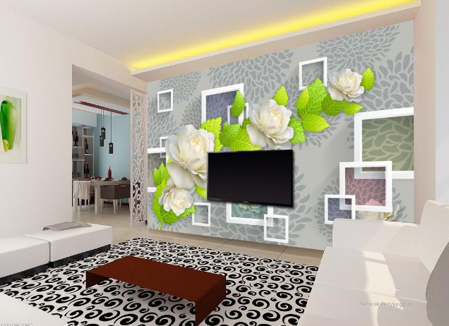 3D Platz Weißes Rosen 8 Tapete Wandgemälde Tapete Tapeten Bild Familie DE Summer