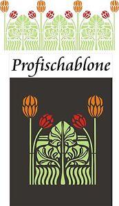 Schablonen-Dekorschablonen-Wandschablone-Malerschablonen-Deko-Jugendstil-6