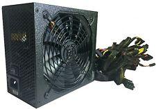 SHARK 1000W 80+ Gaming PC ATX 12V 6-SATA Dual PCIe Silent 120mm Fan Power Supply