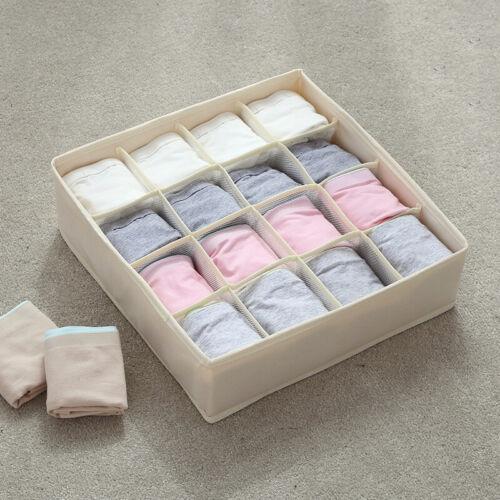 Underwear Sock Tie Bra Glove Closet Organizer Brief Storage Box Drawer Container