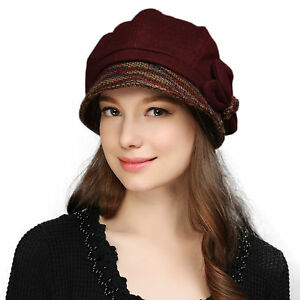 fba62221d44339 Image is loading Butterfly-Trim-Womens-Winter-Hats-Crushable-Cloche-Bucket-